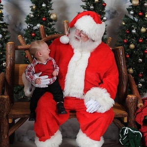 Oliver and Santa2