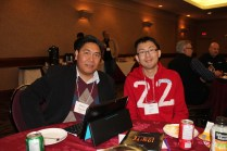 Mabini Dabalos from Calgary (left) and Alan Lam from Airdrie, Alberta. (Photo by Gladys Terichow)