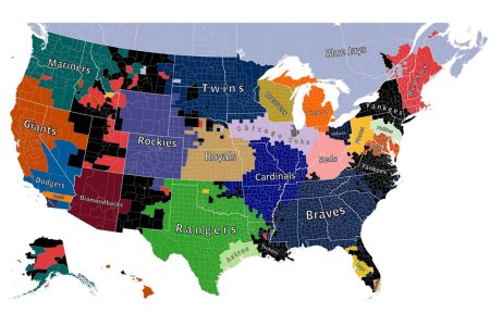 facebook map shows mlb fan trends across the usa and caa