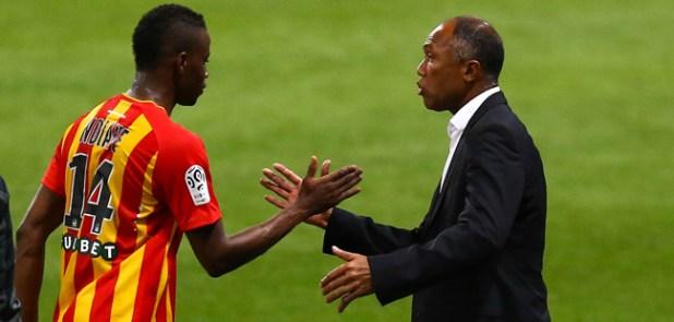 Antoine Kombouare / Ndiaye Ndiaye - 24.10.2014 - Toulouse / Lens - 11eme journee de Ligue 1 Photo : Manuel Blondeau / Icon Sport