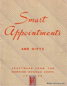 """Manning-Bowman Electric Appliances catalog No. C736 - 1936 """"Smart Appointments and Gifts"""""""