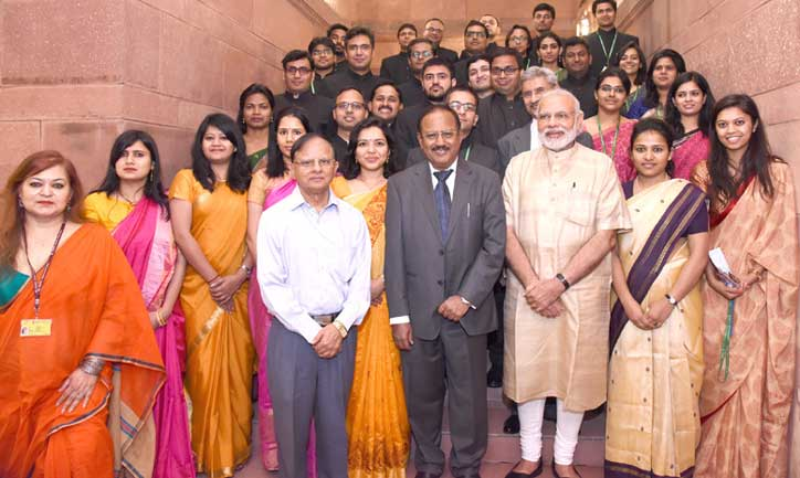 Prime Minister Modi urged young officers to develop deep understanding of the countries of their posting.