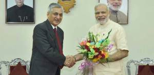 CJI TS Tahkur greeted Prime Minister on his 66th birthday.