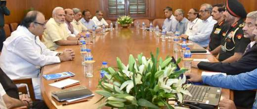 Prime Minister Narendra Modi chaired the meeting of Cabinet Committee on Security to review the situation.