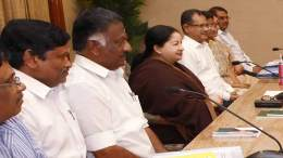 File Photo: Tamil Nadu chief minister J Jayalalitha with O. Paneerselvam on her right.