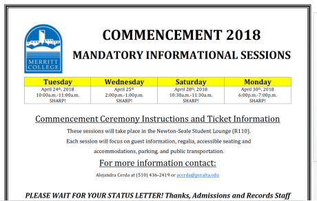 Graduation Is May 23 Schedule Your Mandatory Informational Session