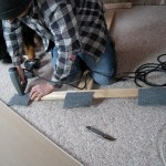 Crafting the T-brace that will support the ceiling drywall while it's being installed.