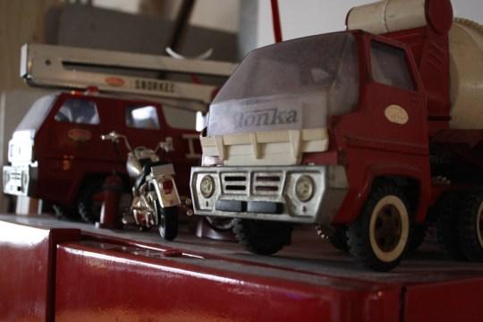 Childhood toys, fuel for conversation, subtle inspiration.