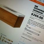 Choice 2. Single drawer.