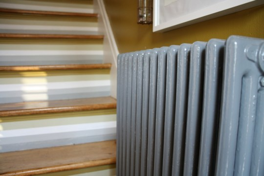 Glossy, glossy radiator.