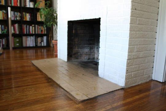 Fireplace hearth before.