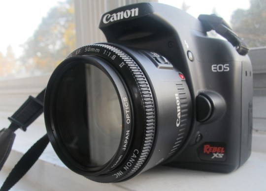 Canon EF lens. And UV filter.