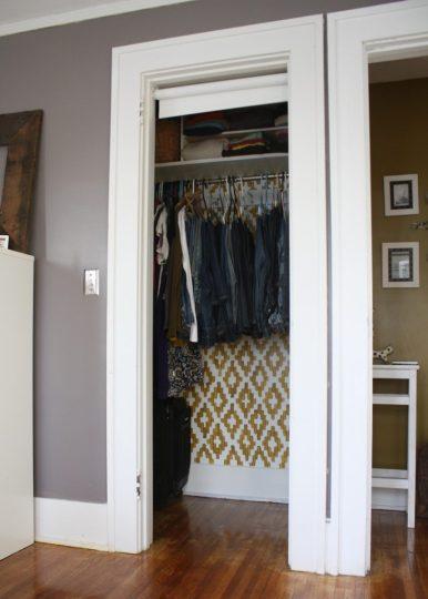 Closet, re-organized.