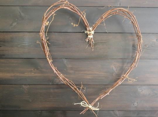 Fancy DIY heart wreath.