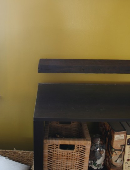 Finished floating shelf.