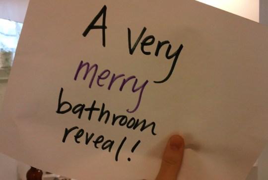 A very merry bathroom reveal!