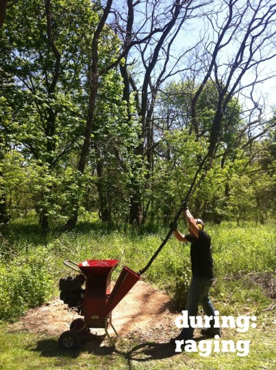 Wood chipping: A rage-infused second hour.