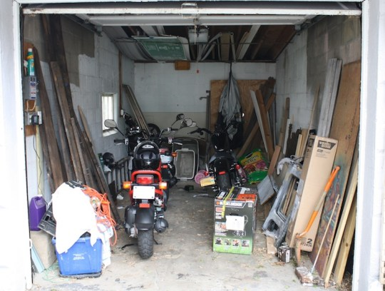 What a messy, mess-mess. Time for a garage clean-out.