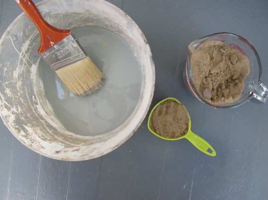 Floor paint and sand! Makes a slip-free staircase.