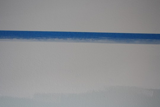Quick tip: Paint in the same color along the side of the tape that you don't want to bleed.