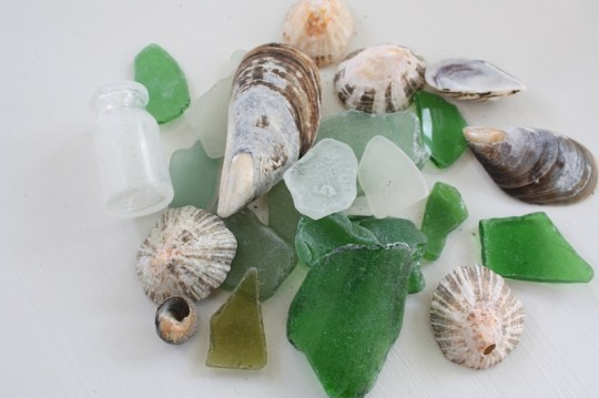 Beach glass from the Moroccan coastline.