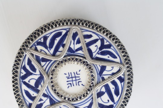 Love the ornate details on this ceramic Moroccan box.