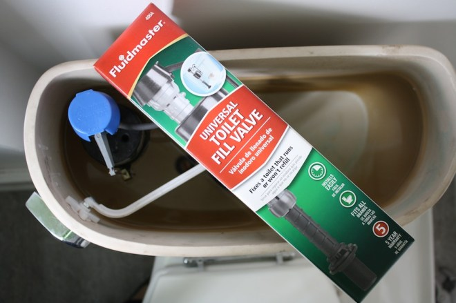 When the time comes to replace the fill valve in your toilet, be happy: it's inexpensive.