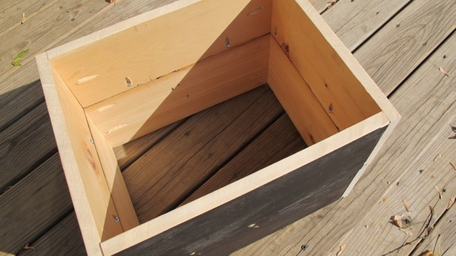 Assemble the boxes using Kreg Jig screws to attach the boards on the inside.