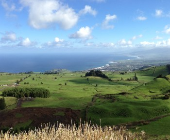 Sao Miguel, Azores on a sunny day.