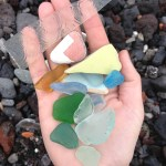 Just a small handful of the beach glass we brought back.