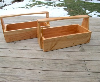 Our wedding gift, a set of handmade toolboxes.
