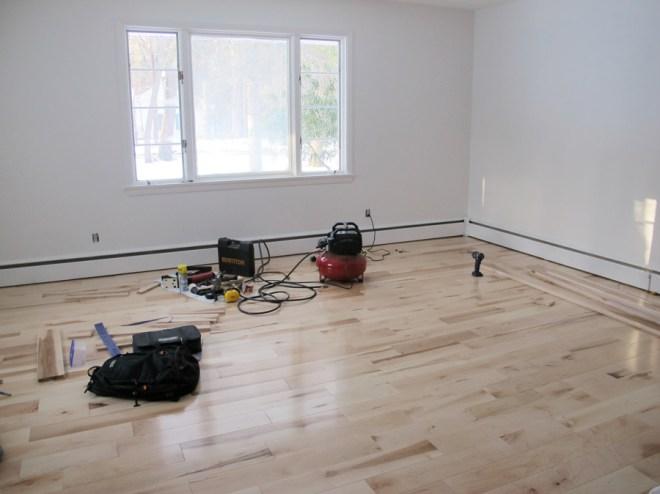 Master bedroom flooring is done!