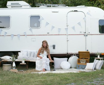 """Ruthie Collins and her amazing Airstream """"Amelia Earstream"""""""