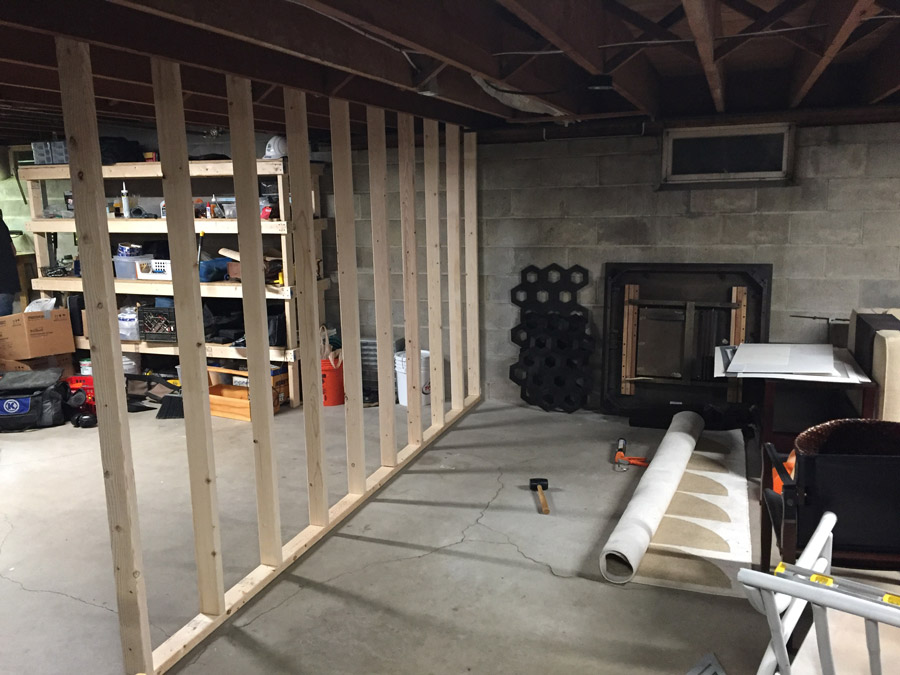 when we spontaneously framed out a few walls dark and basement y