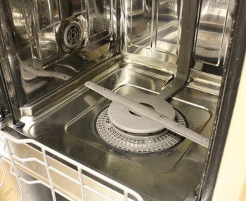 How to clean the drain of the dishwasher.