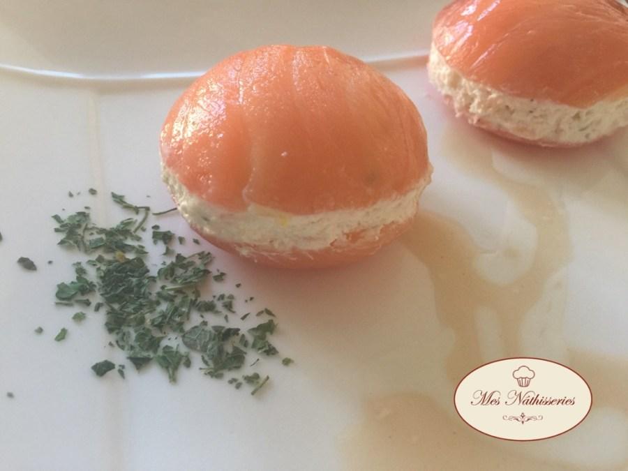 Macarons au saumon et wasabi