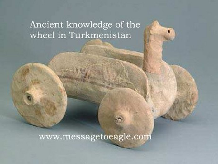 ruedas antiguas Altyn Depe, Turkmenistán