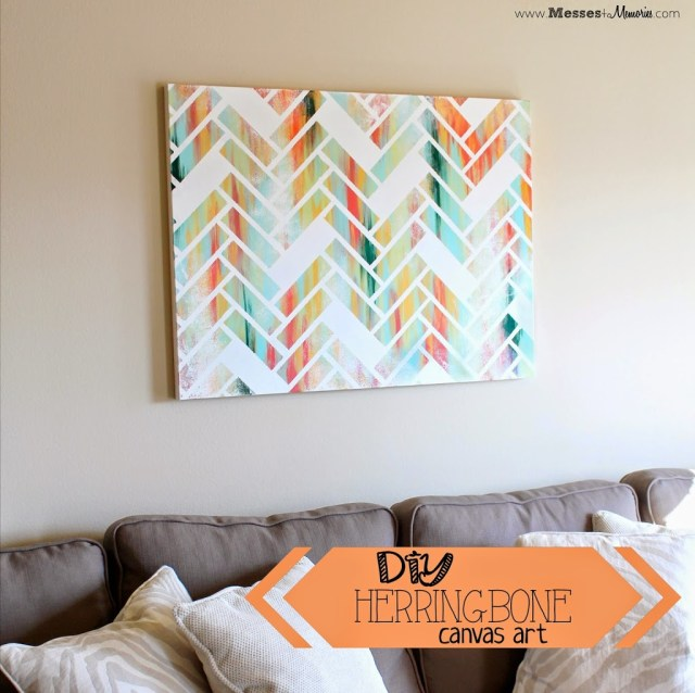 Diy Herringbone Canvas Art: diy canvas art