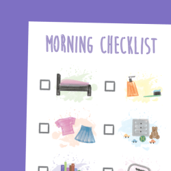 MORNING ROUTINES CHECKLIST FOR KIDS