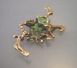 Bob Winston cast gold pendant