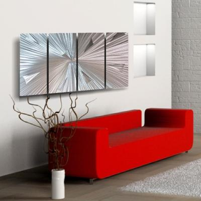 Modern Metal Wall Art ARTIC BLAST