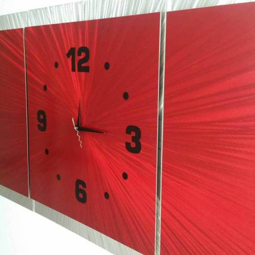 Medium Of Large Wall Clock Red