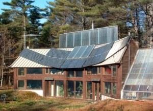 PV Solar Panels on Metal Roof