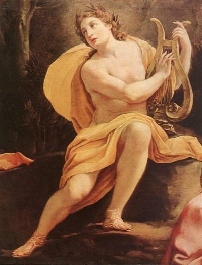 Apollo with his Lyre by Simon Vouet