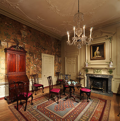 American Georgian Interiors  Mid Eighteenth Century Period Rooms     Room from the Powel House  Philadelphia