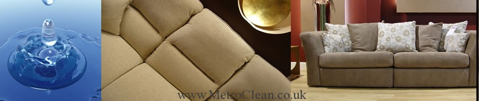 Upholstery cleaning services by MetroClean