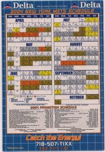 Mets magnetic schedule
