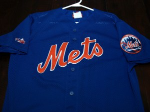 MetsPolice.com Blue Mesh Buttoned Jersey