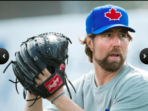 R.A. Dickey of the Blue Jays