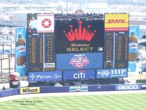 Shea Stadium scoreboard